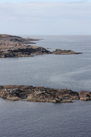 Through the sea haze are the Western Isles